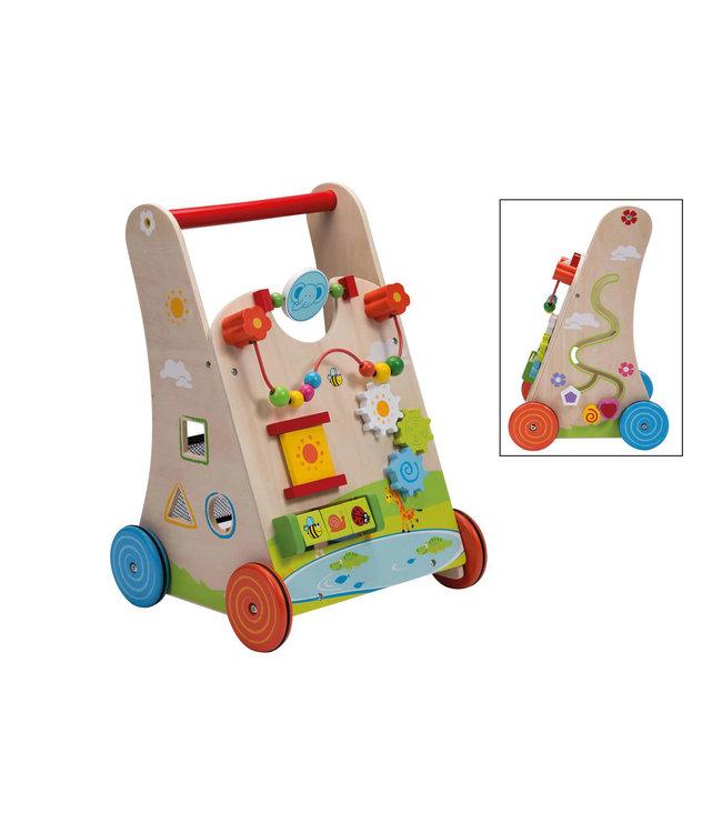 Jouéco Babywalker met Vormenstoof - Loopwagen 1+