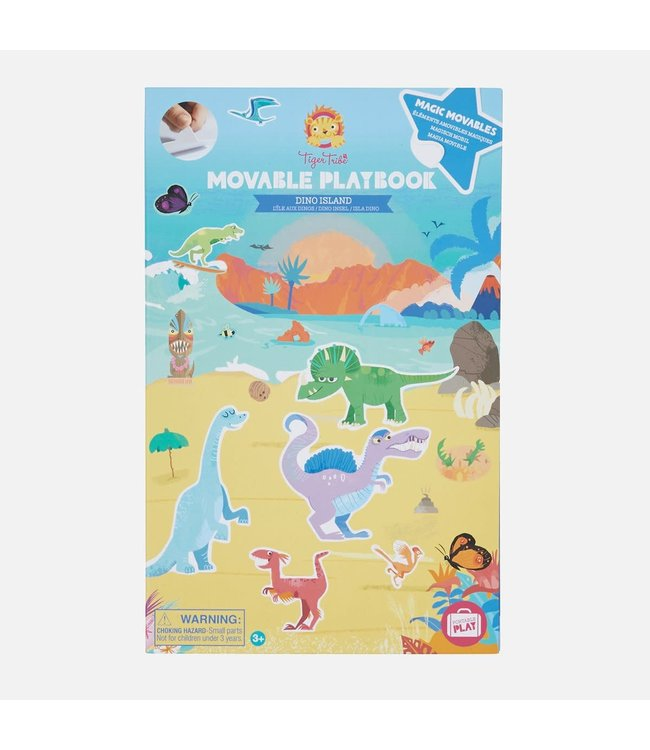 Tigre Tribe Movable Playbook   Dino Island    3+