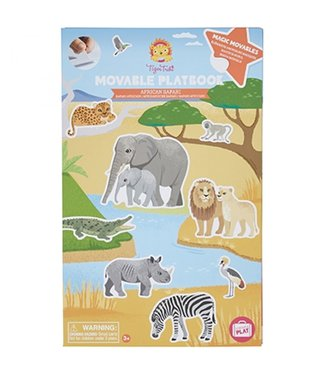 Tigre Tribe Tigre Tribe Movable Playbook | African Safari | 3+