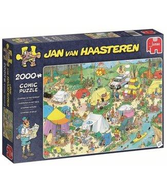 Jumbo Jumbo Jan van Haasteren Puzzel Kamperen in het Bos  2000 stukjes
