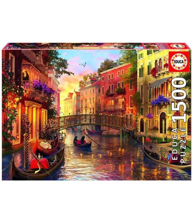Educa Puzzle Zonsondergang in Venetië 1500 stukjes