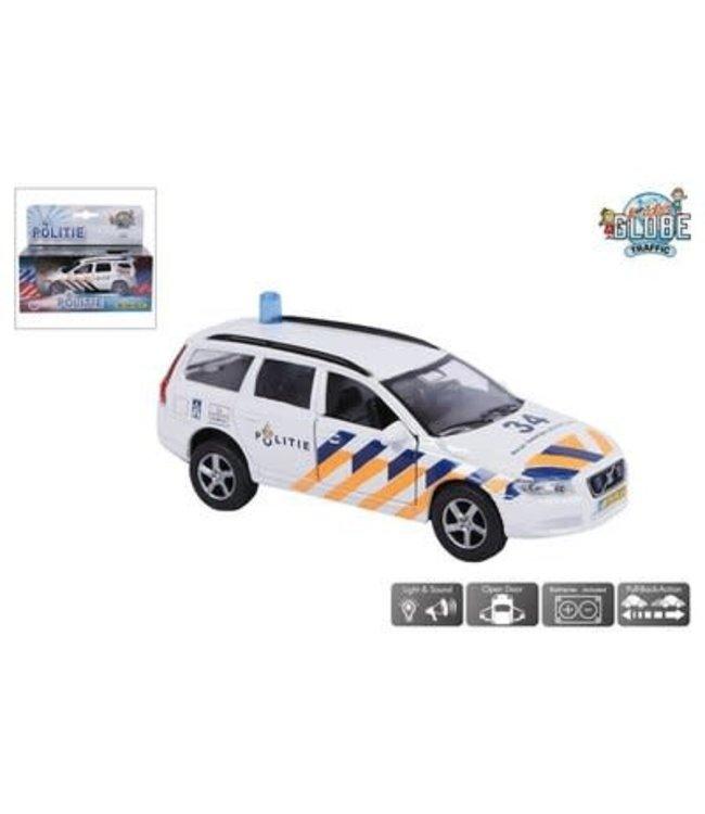 Kids Globe Die Cast  Politieauto met licht en geluid 15 cm  3+