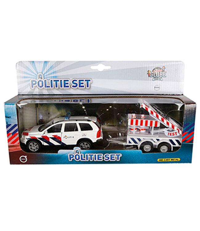 Kids Globe | Die Cast | Politie Volvo XC70 met Bebakeningswagen | 3+