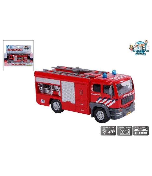 Kids Globe | Die Cast | Brandweerauto met licht en geluid | 3+