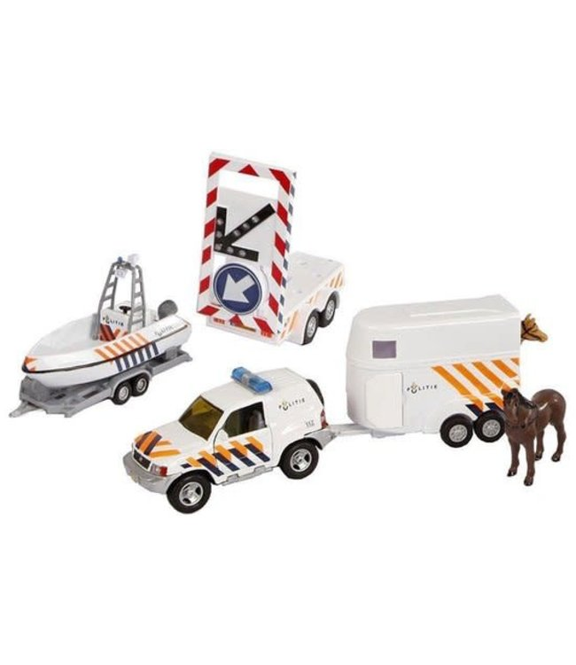 2-Play Die-Cast Giftset Politie 4-delig 3+