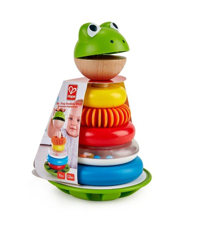 Hape | Mr. Frog Stacking Rings | 1+