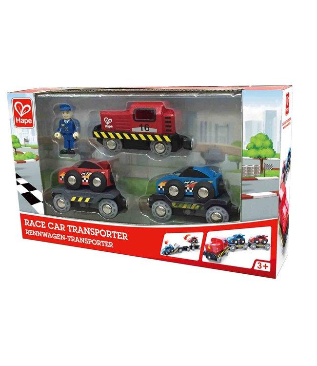 Hape | Race Car Transporter | 3+