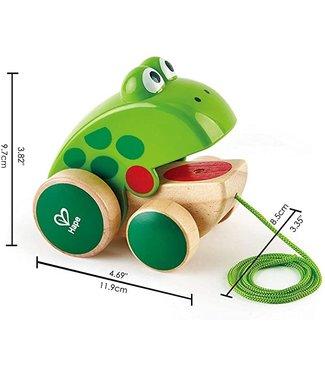 Hape Hape   Pull Along Frog 12 cm   1+
