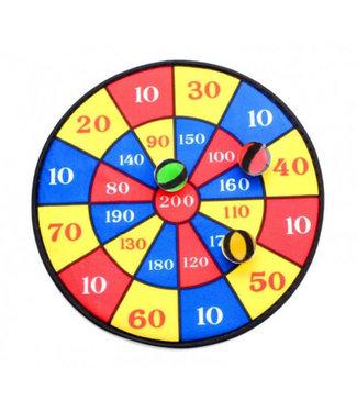 Sportline | Dartbord met 3 Klittebandballen  | 36 cm | 5+