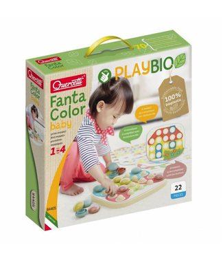 Quercetti Quercetti | Play Bio | FantaColor Baby Insteekmozaïek | 22 delig | 1+