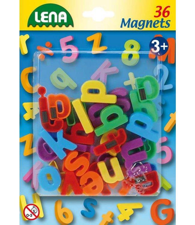Lena | Magnetische Letters | 36 stuks | 3+