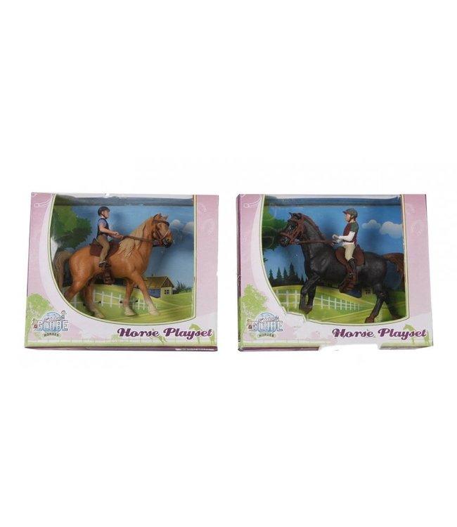 Kids Globe Speelset Paard met Amazone 3+