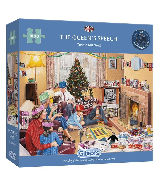 Gibsons Puzzle | Trevor Mitchell | The Queen's Speech | 1000 pieces
