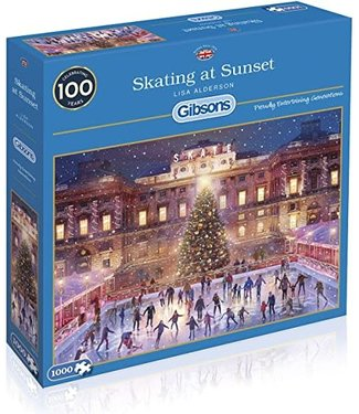 Gibsons Gibsons Puzzle | Lisa Alderson | Skating at Sunset | 1000 pieces