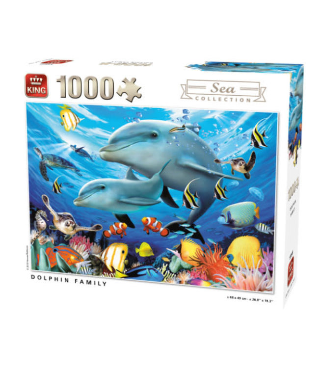 King Puzzel Dolphin Family 1000 stukjes