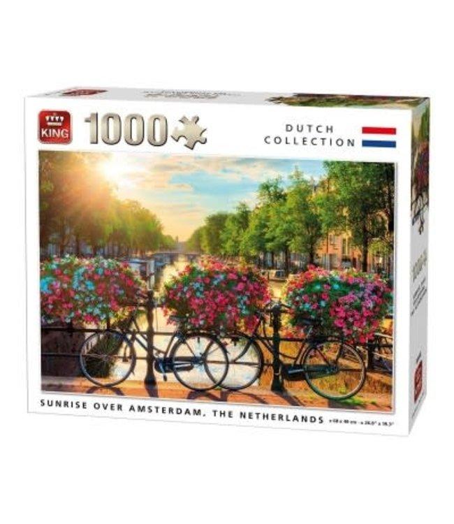 King | Puzzel | Sunrise over Amsterdam | 1000 stukjes