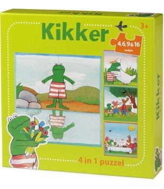 De Wereld van Kikker 4 in 1 puzzel (4+6+9+16)  3+