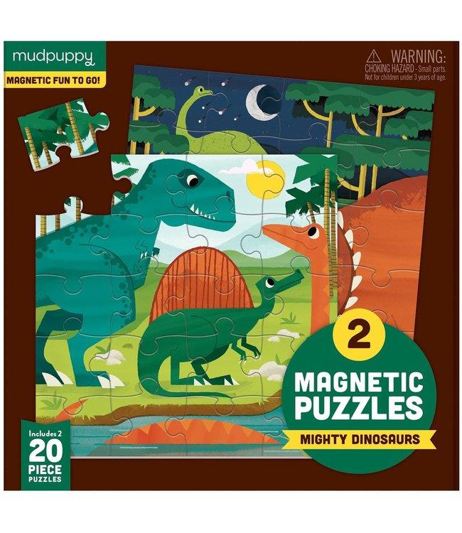 Mudpuppy   Two Magnetic Puzzles   Mighty Dinosaurs   20 stukjes   3+