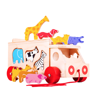 Bigjigs Bigjigs Dierentruck Animal Shape Lorry  +18 mnd