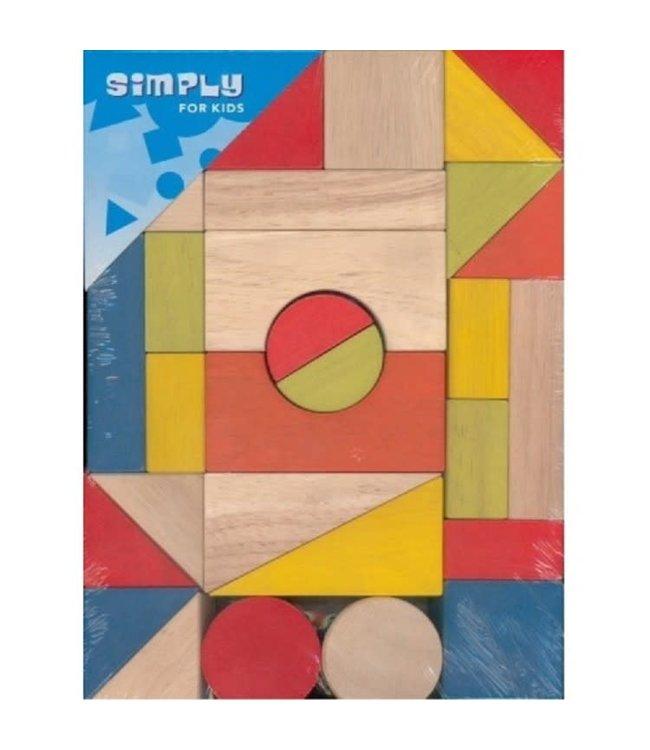 Simply For Kids Blokkenset  Gekleurd  29 dlg  1+