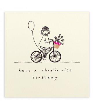 Ruth Jackson Pencil Shavings Cards by Ruth Jackson   Have a Wheelie Nice Birthday