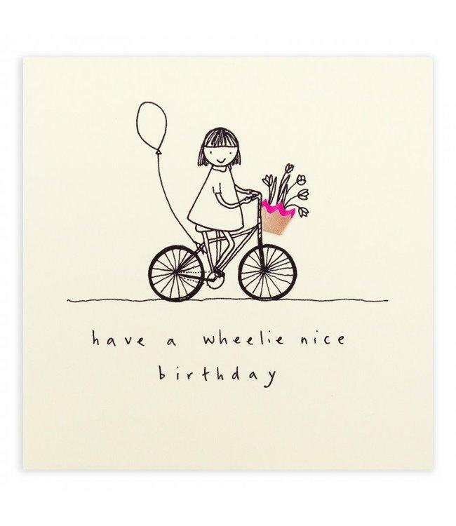 Pencil Shavings Cards by Ruth Jackson   Have a Wheelie Nice Birthday