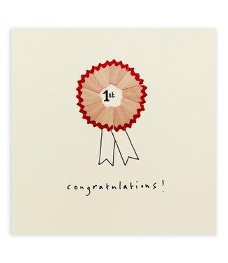 Ruth Jackson Pencil Shavings Cards by Ruth Jackson   Congratulations!   Rosette