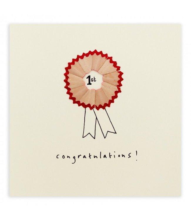 Pencil Shavings Cards by Ruth Jackson   Congratulations!   Rosette