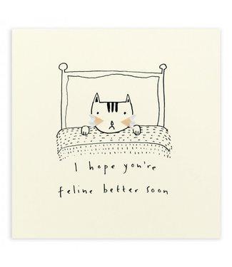 Ruth Jackson Pencil Shavings Cards by Ruth Jackson | I Hope You're Feline Better Soon