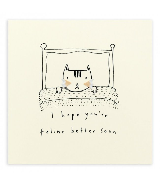 Pencil Shavings Cards by Ruth Jackson | I Hope You're Feline Better Soon