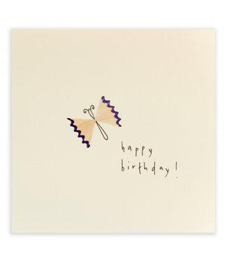 Ruth Jackson Pencil Shavings Cards by Ruth Jackson | Happy Birthday | Butterfly