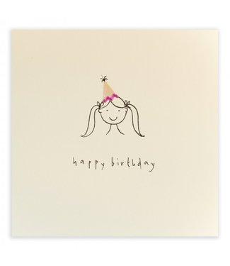 Ruth Jackson Pencil Shavings Cards by Ruth Jackson | Happy Birthday | Hat Girl