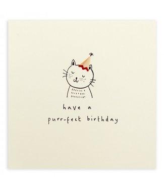 Ruth Jackson Pencil Shavings Cards by Ruth Jackson | Have a Purr-fect Birthday