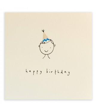 Ruth Jackson Pencil Shavings Cards by Ruth Jackson | Happy Birthday | Hat Boy
