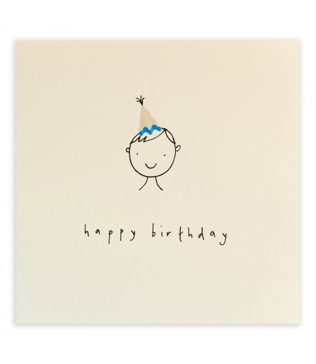 Pencil Shavings Cards by Ruth Jackson | Happy Birthday | Hat Boy