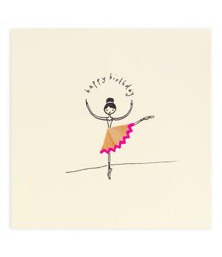 Ruth Jackson Pencil Shavings Cards by Ruth Jackson | Happy Birthday | Ballerina