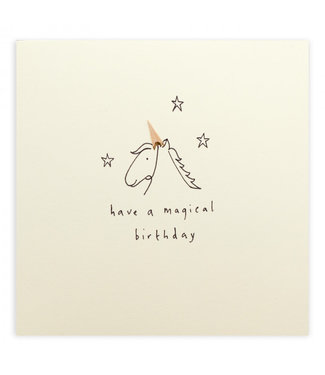 Ruth Jackson Pencil Shavings Cards by Ruth Jackson | Have  a Magical Birthday | Unicorn
