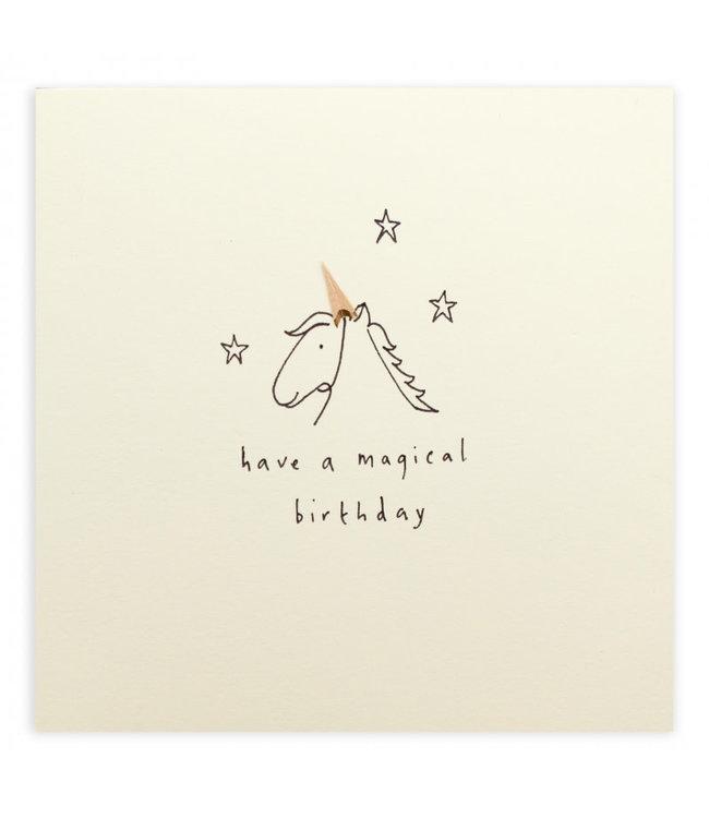 Pencil Shavings Cards by Ruth Jackson | Have  a Magical Birthday | Unicorn