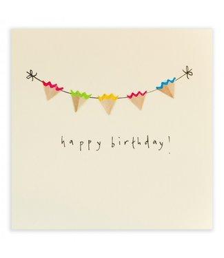 Ruth Jackson Pencil Shavings Cards by Ruth Jackson | Happy Birthday | Birthday Bunting