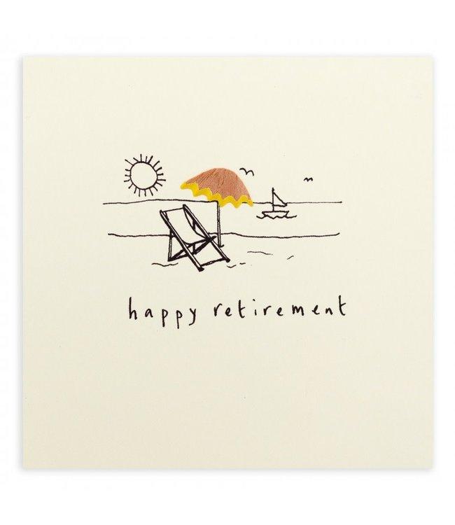 Pencil Shavings Cards by Ruth Jackson | Happy Retirement | Deckchair