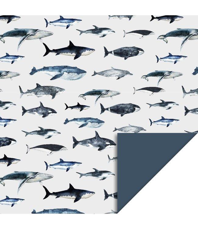 HOP consumenten rol 70 x 200 cm Sea Life Blue