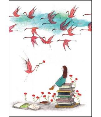 Bekking & Blitz Bekking & Blitz | Miriam Bouwens | Ode aan lezen; flamingo's