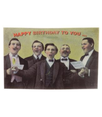 Lenticulaire Kaart Bewegend | Happy Birthday | Mannenkoor