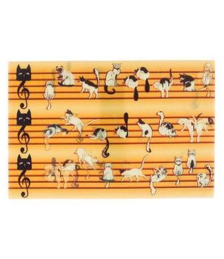 Lenticulaire Kaart Bewegend | Katjes dansend over de Notenbalk