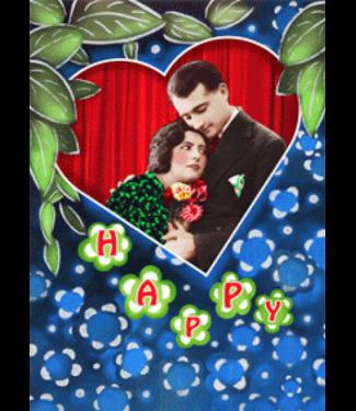 Lenticulaire Kaart Bewegend | Happy Birthday Nostalgisch