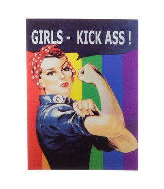 Lenticulaire Kaart Bewegend | Girls,  Kick Ass!