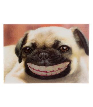 Lenticulaire Kaart Bewegend | Lachende Hond