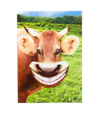 Lenticulaire Kaart Bewegend | Lachende Koe