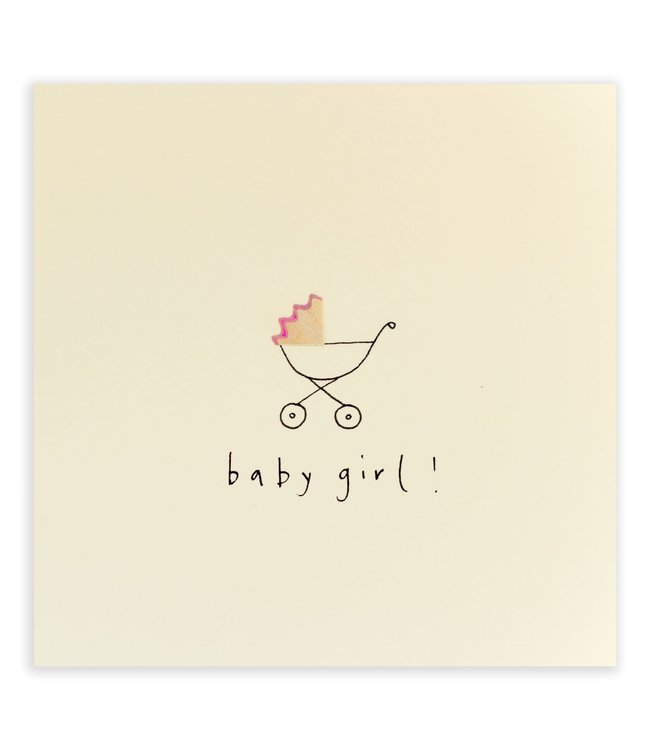 Pencil Shavings Cards by Ruth Jackson | Babygirl | Pram