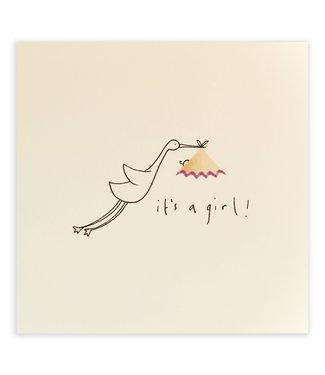 Pencil Shavings Cards by Ruth Jackson | Ooievaar | It's a Girl